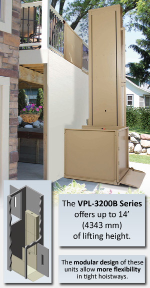 VPL-3200B Series wheelchair elevator lifts